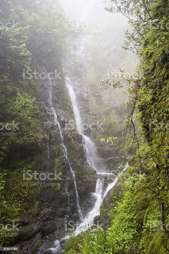 Misty Waterfalls royalty-free stock photo