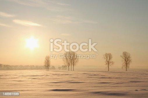 1034754000 istock photo Misty winter sunrise 146961599