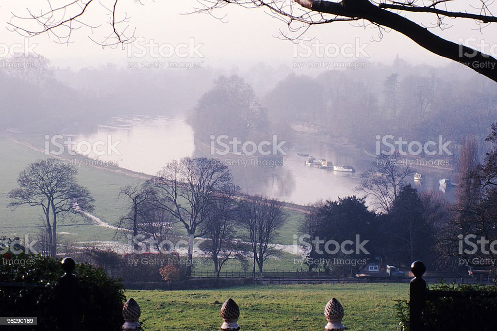 MistyView from Richmond Hill. Surrey. England royalty-free stock photo