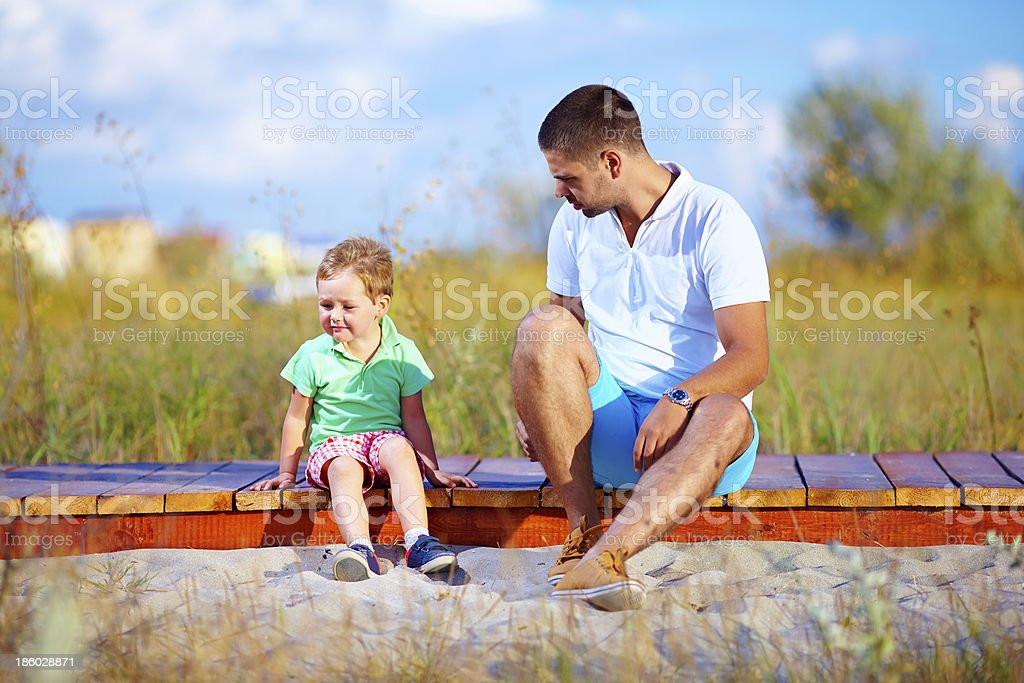 misunderstandings between father and son royalty-free stock photo