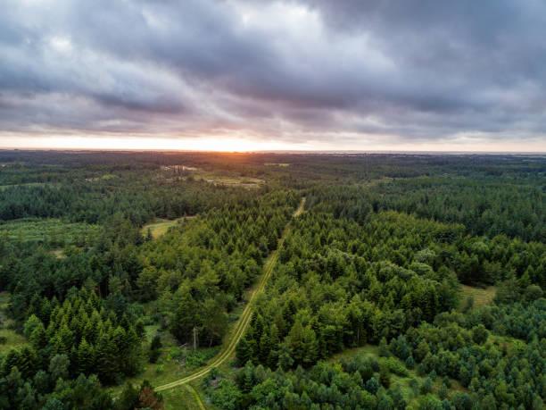 Mit der Drohne Über Dem Nationalpark Thy in Dänemark – Foto