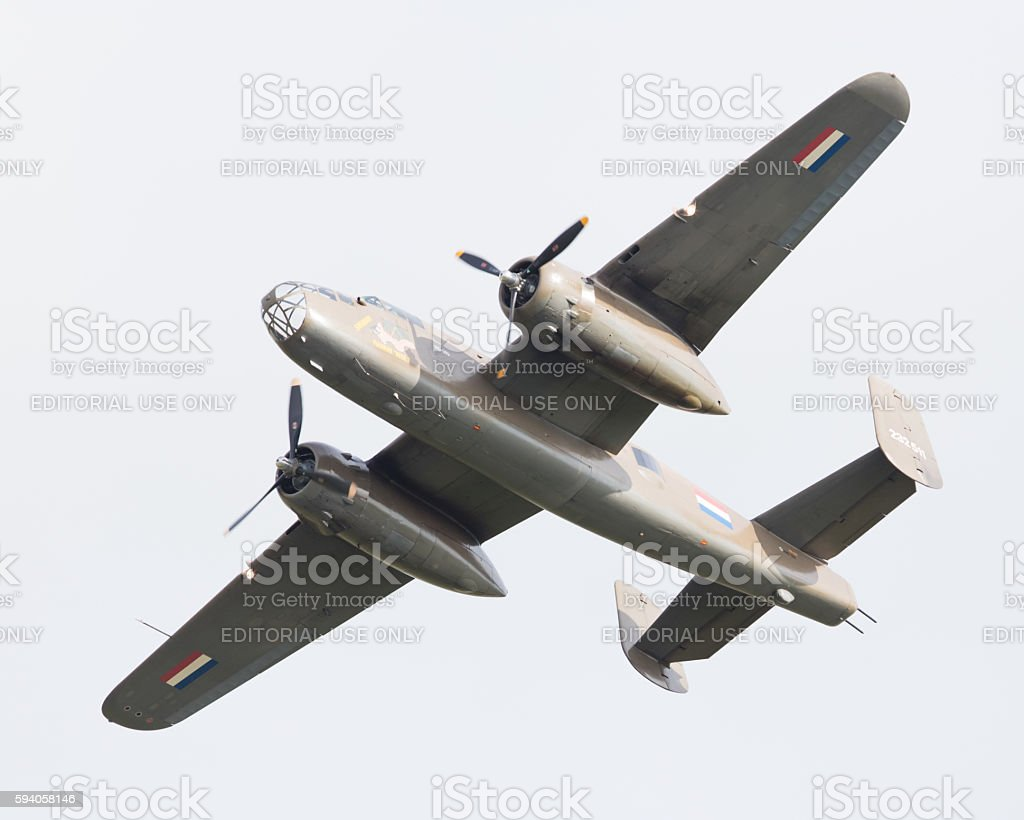 WW2 B-25 Mitchell bomber stock photo