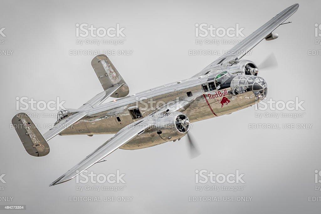 B-25 Mitchell - Red Bull / Flying Bulls stock photo