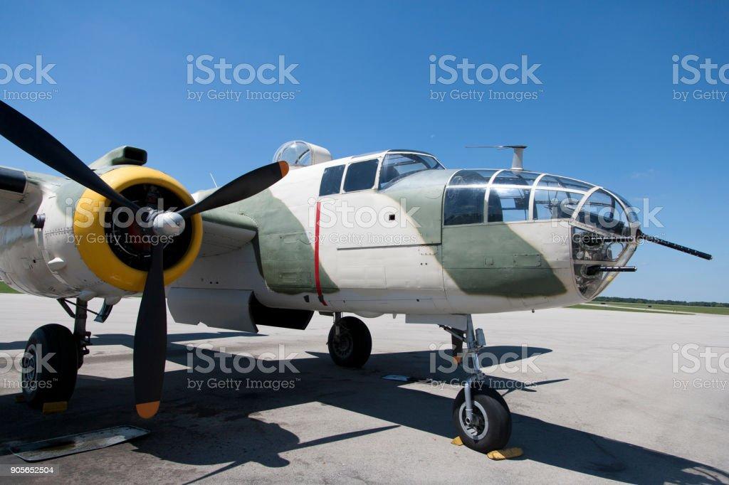 B25 Mitchell WWII Bomber stock photo