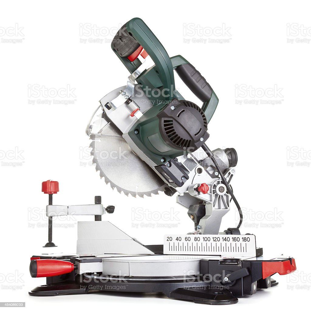 Miter saw isolated stock photo