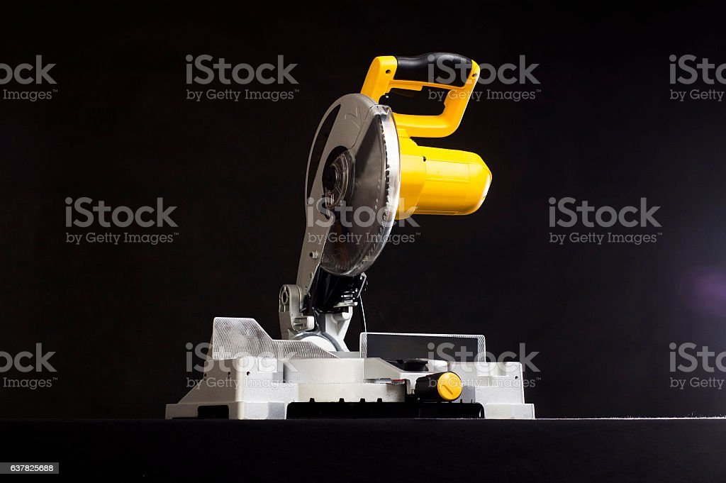 miter saw. stock photo