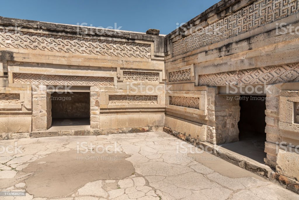 Stone palace with intricate fretwork found in the archaeological site...