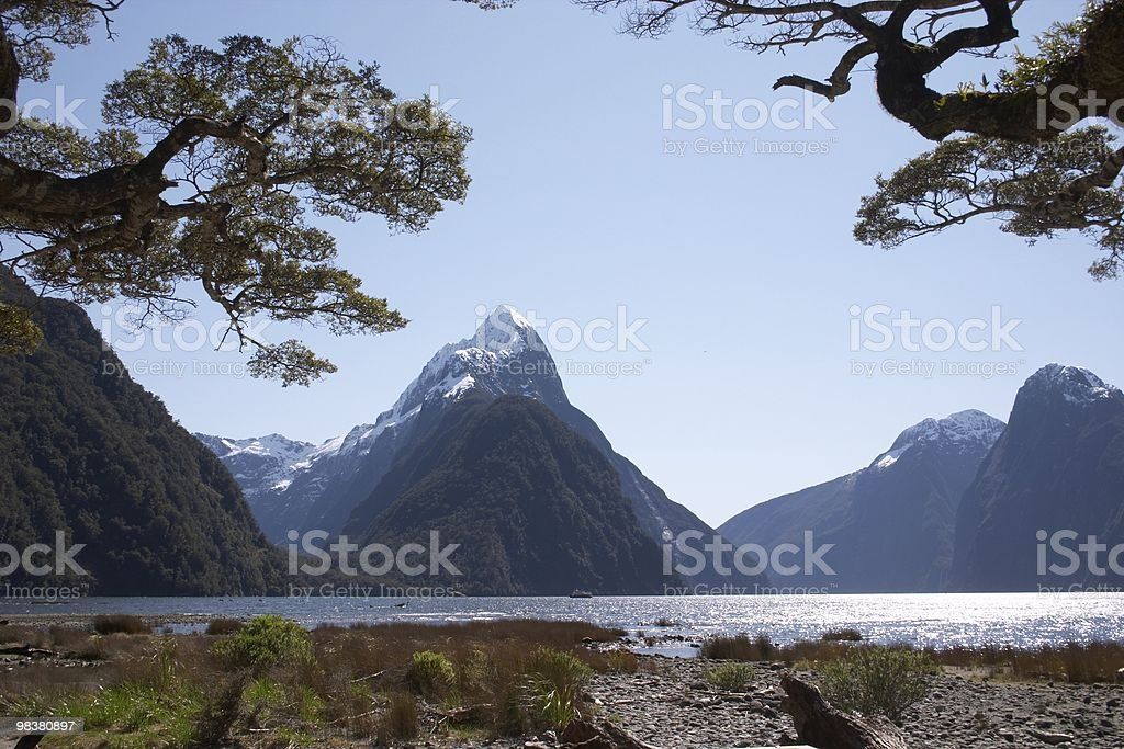 Mitre peak 2 royalty-free stock photo