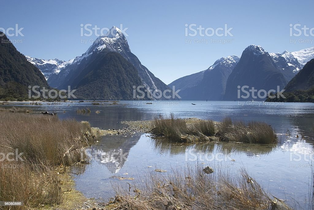 mitre peak royalty-free stock photo