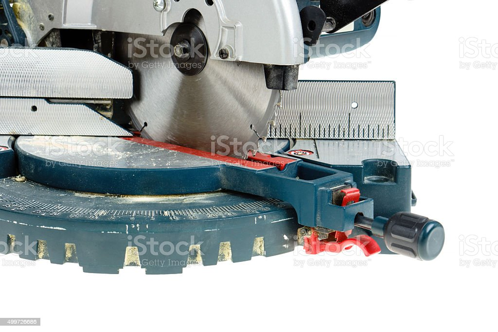 Mitre saw isolated stock photo