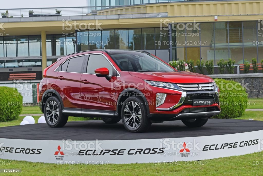 Mitsubishi Eclipse Cross on the exhibition point