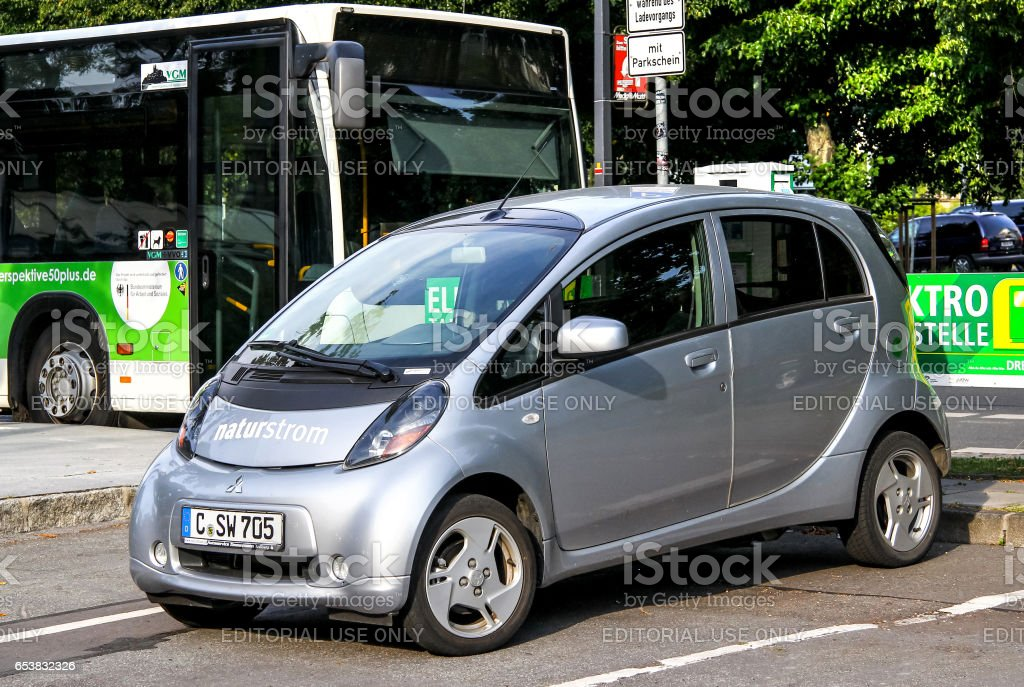 Mitsubishi i-MiEV stock photo