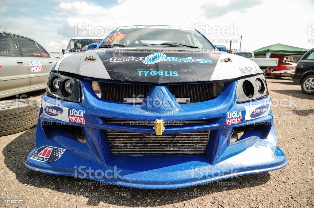 Mitsubishi Lancer EVO VIII race car stock photo