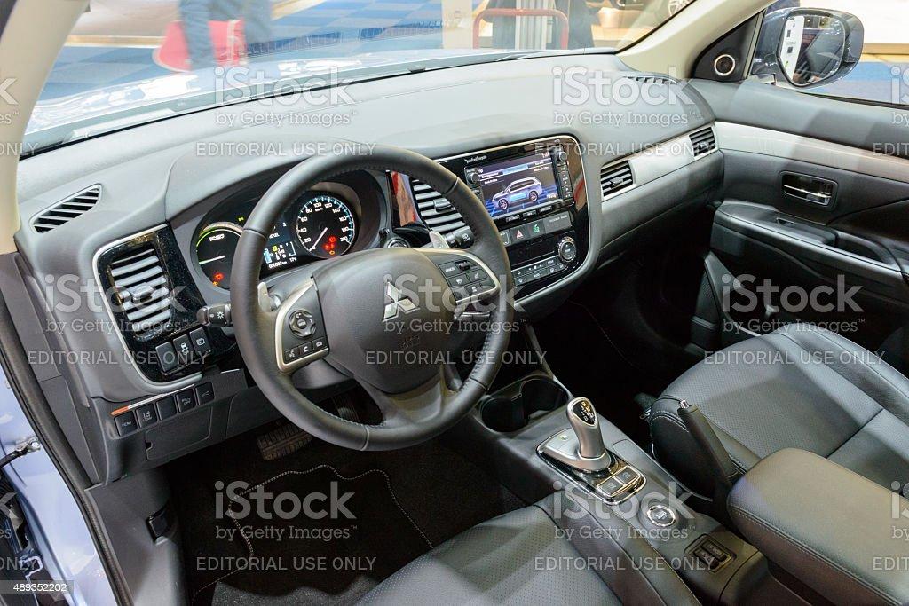 Mitsubishi Outlander PHEV plug in hybrid car interior
