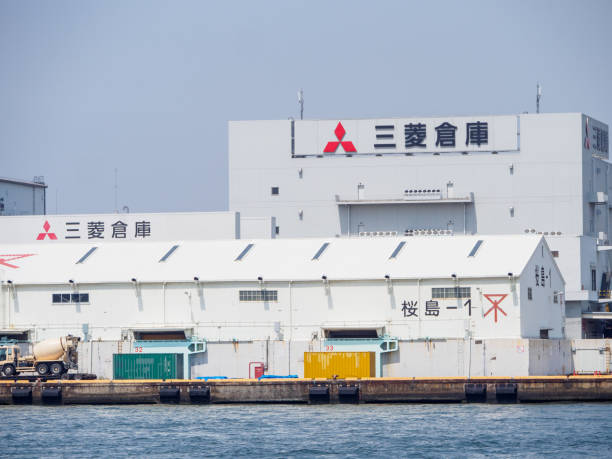 Mitsubishi warehouse buildings, Osaka, Japan stock photo