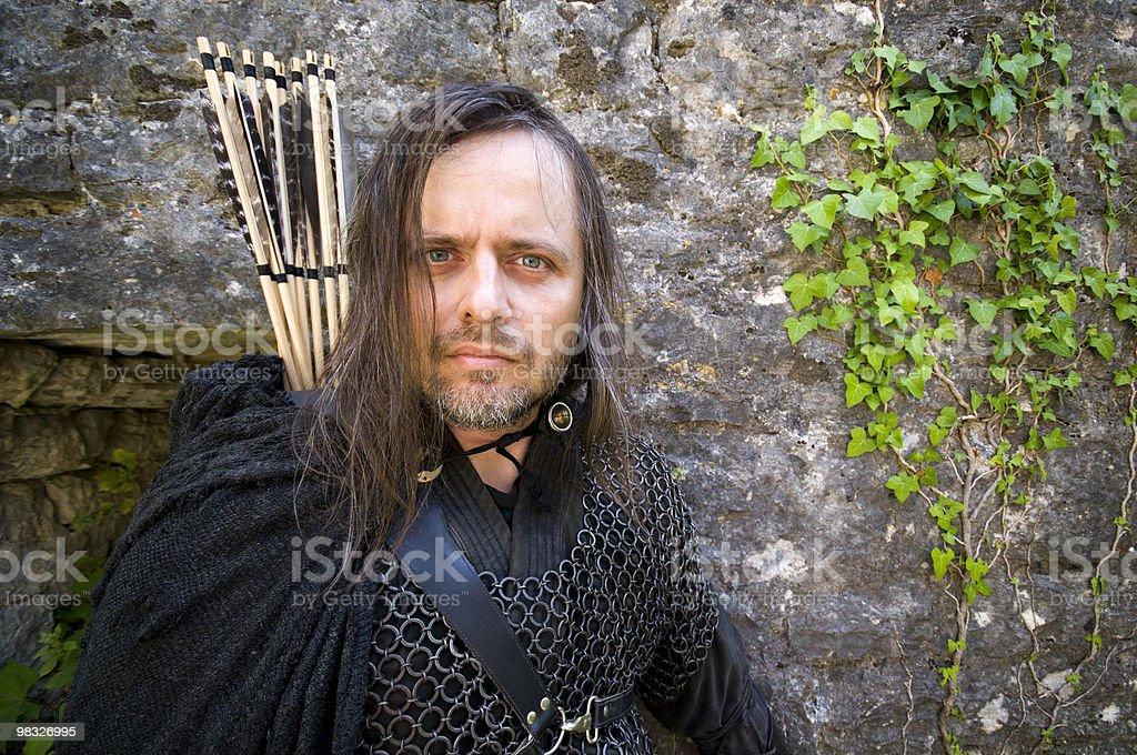 Mittelalterlicher Bogenschütze Portrait royalty-free stock photo