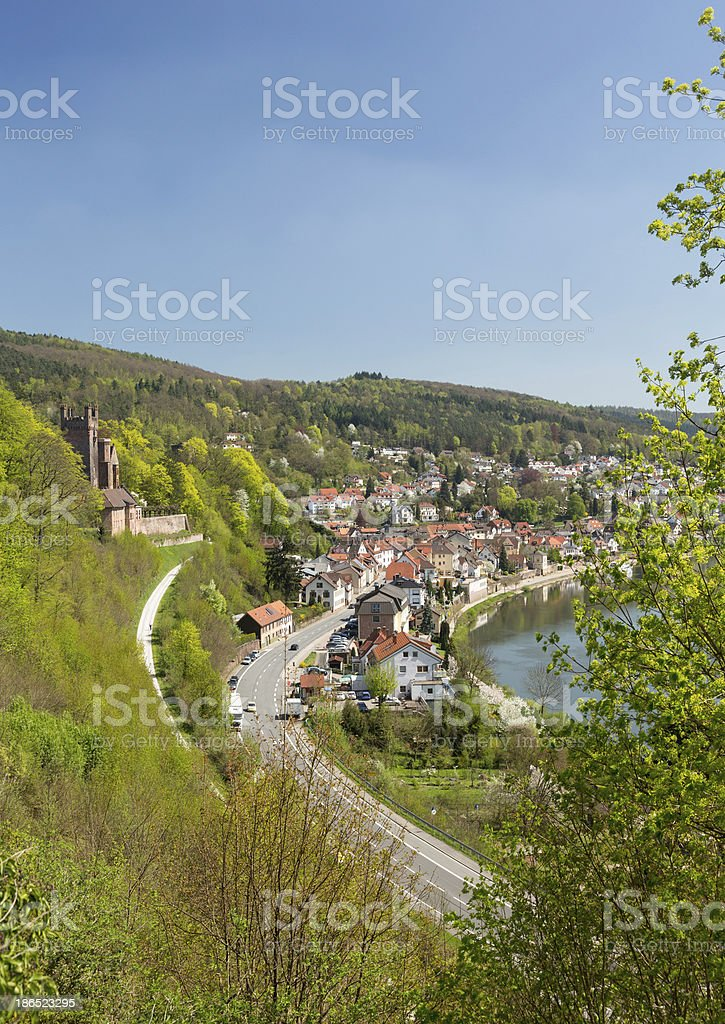 Mittelburg castle above Neckarsteinach royalty-free stock photo