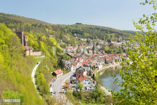 Mittelburg Castle Above Neckarsteinach Stock Photo & More Pictures of Ancient