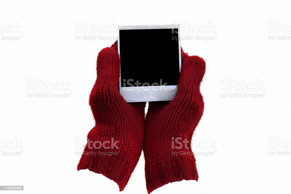 Mitten and a picture stock photo