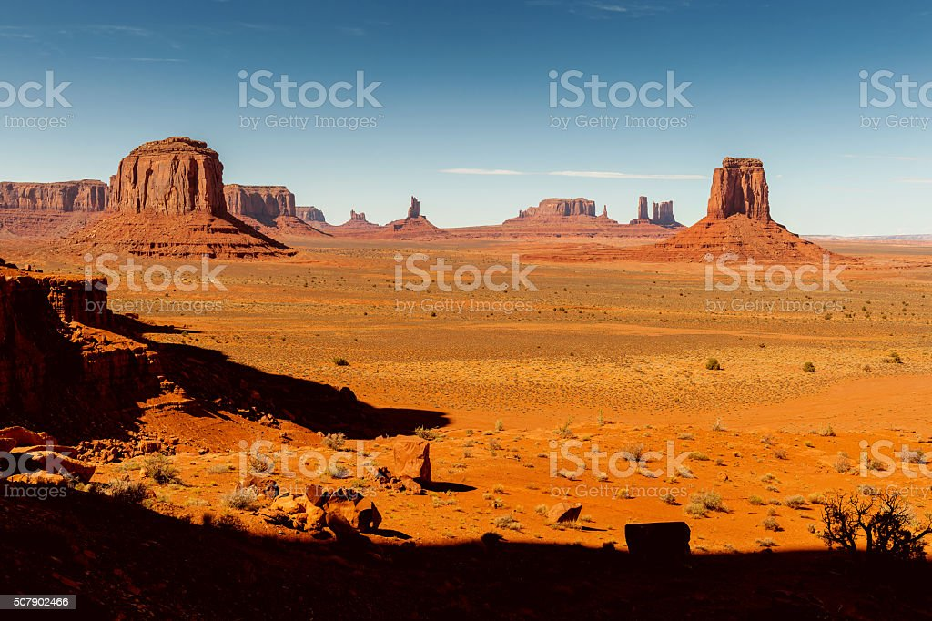 Mitten Buttes in Monument Valley, Arizona USA stock photo