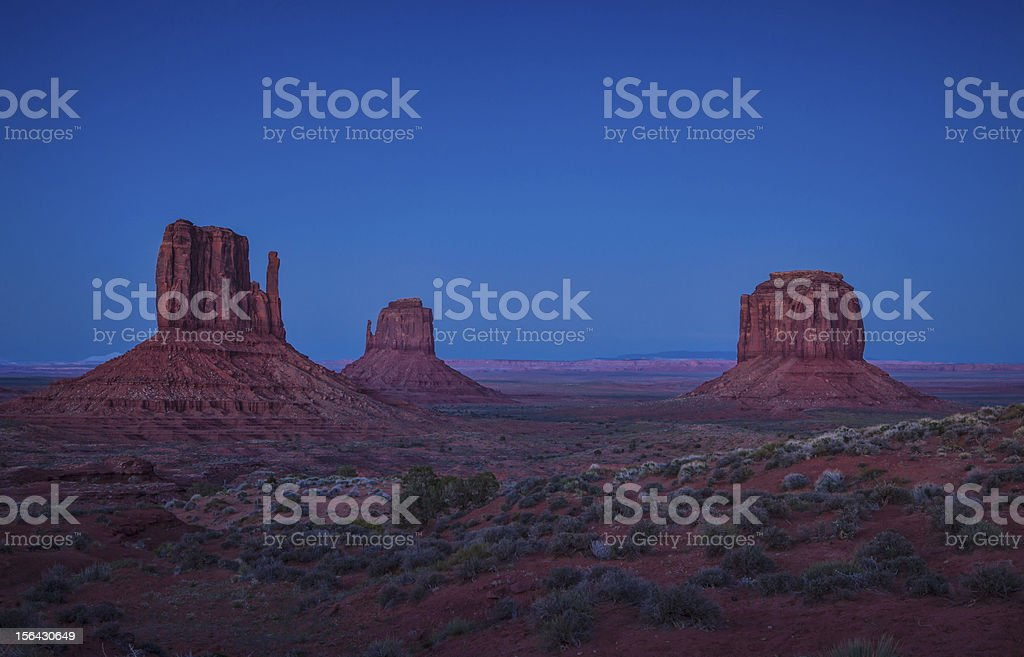 Mitten Buttes in Monument Valley stock photo