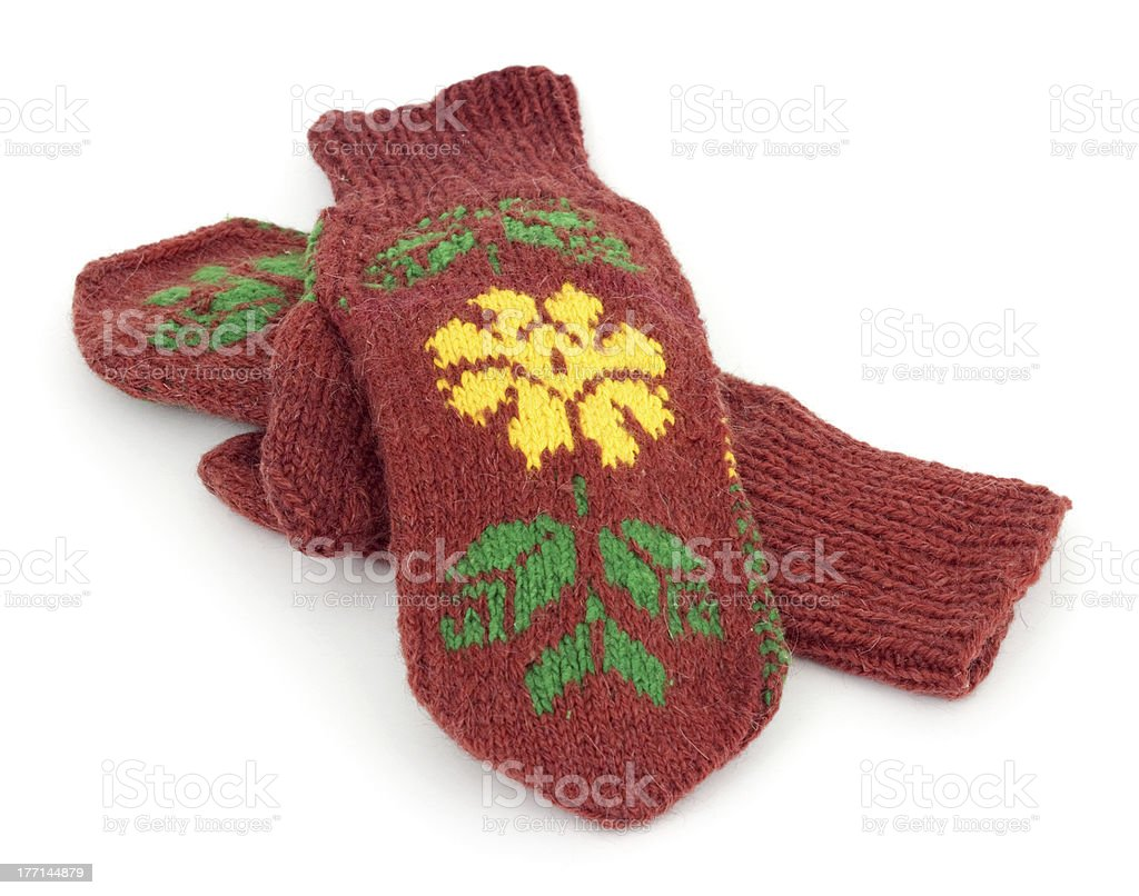 Mittens royalty-free stock photo
