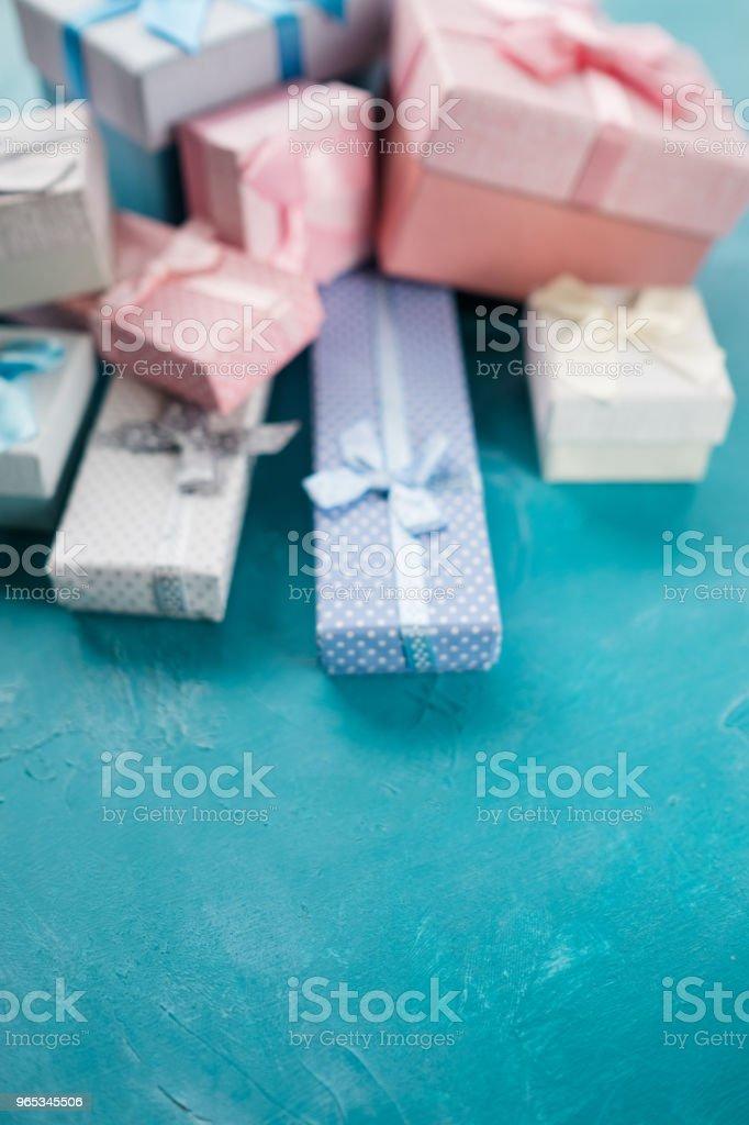 mix gift box present choose celebration defocused zbiór zdjęć royalty-free
