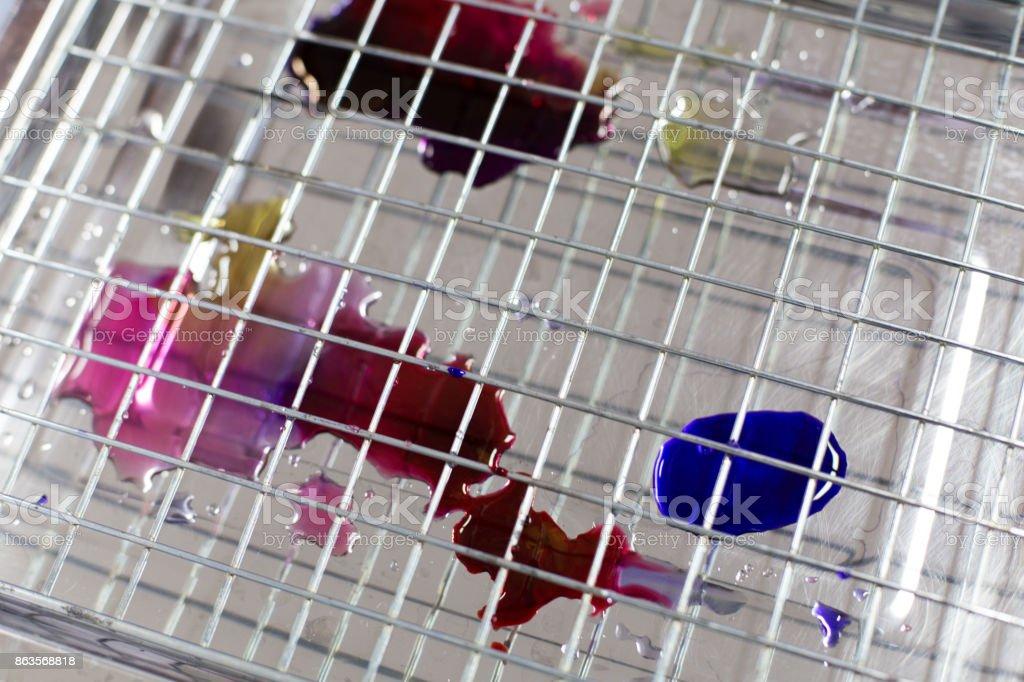 Mix Gram stain in laboratory stock photo