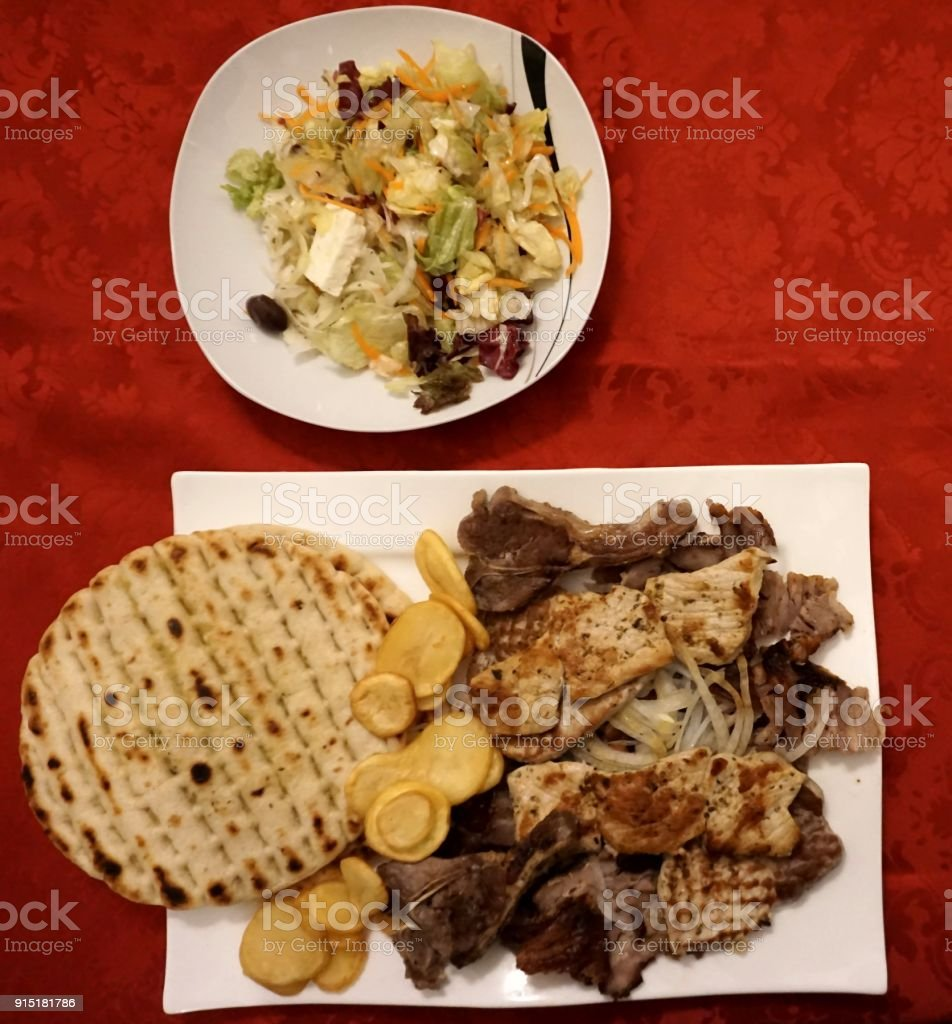 Mix Meat Plate stock photo