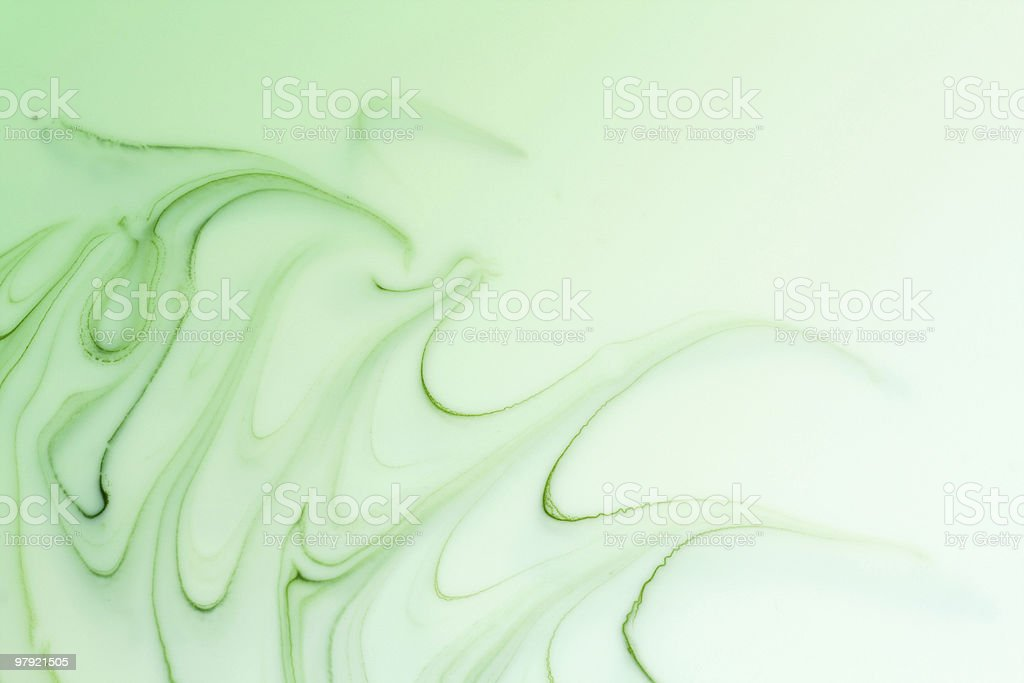 Mix of a white and green paint royalty-free stock photo
