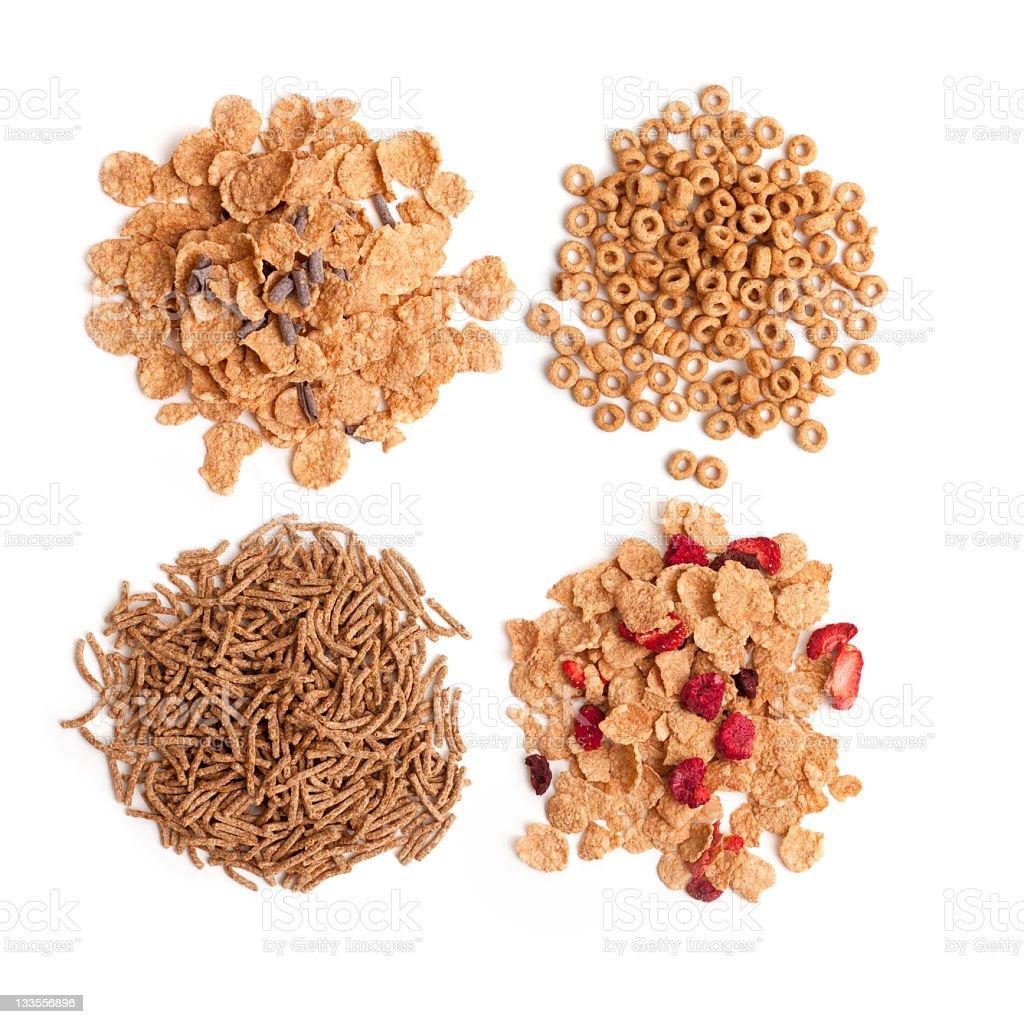 Mix of breakfast granola cereals stock photo