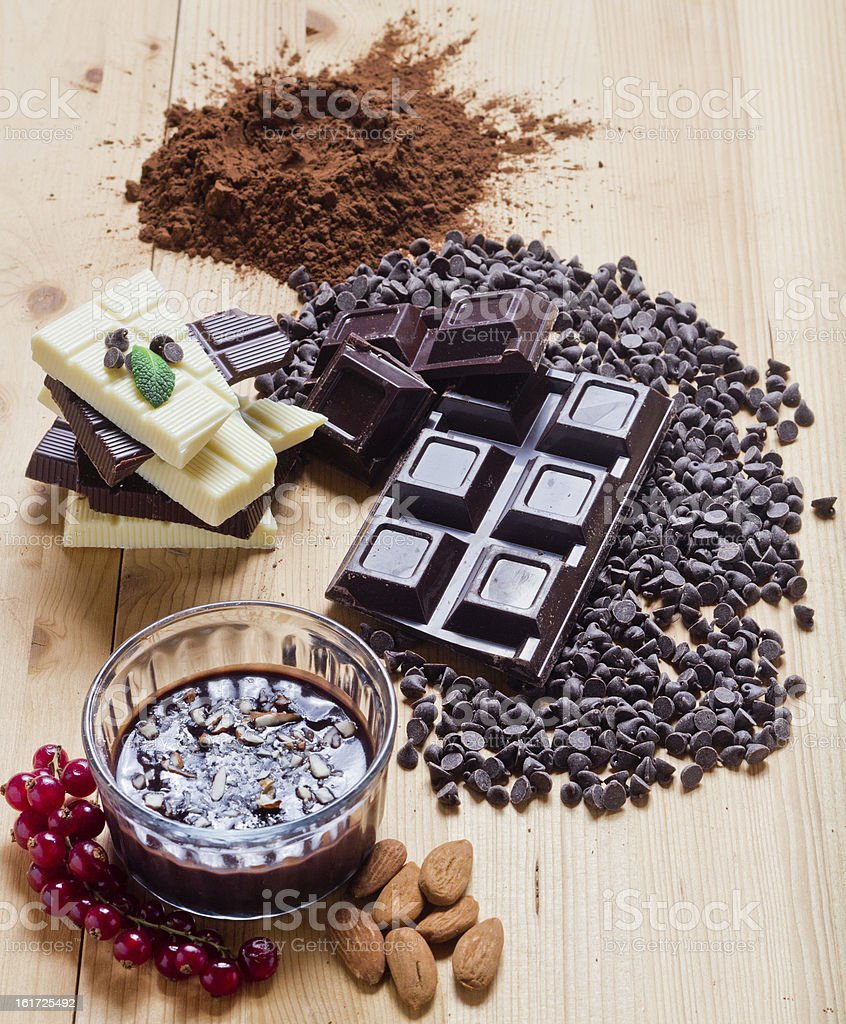 Mix of chocolate royalty-free stock photo
