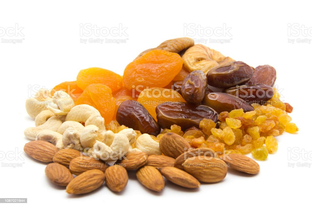 Mix Of Different Dried Fruits Stock Photo & More Pictures of Apricot