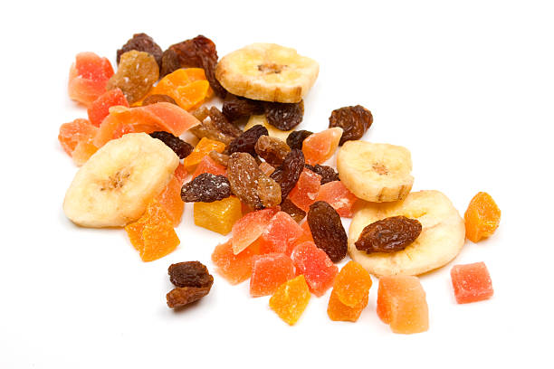 mix of dried fruit - dried fruit stock photos and pictures