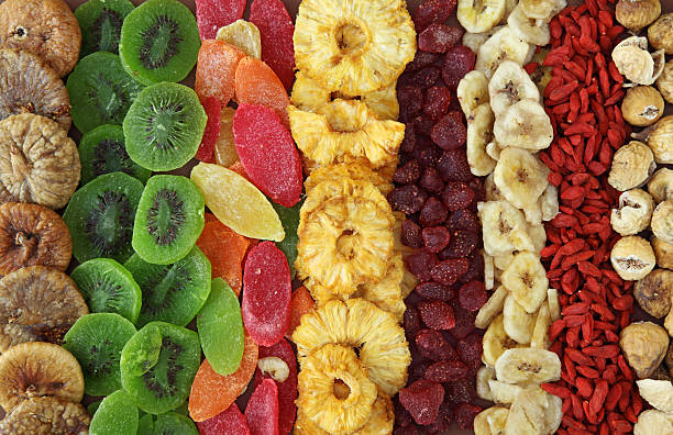 mix of dried fruits - dried fruit stock photos and pictures