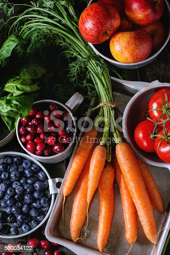 istock Mix of fruits, vegetables and berries 500034122