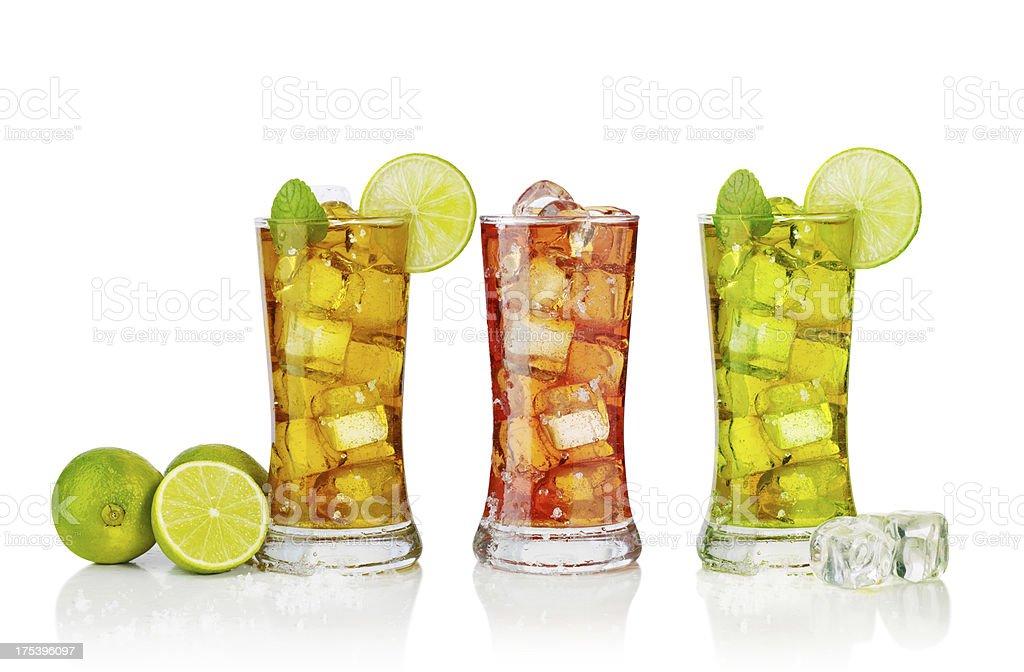 mix of ice tea stock photo