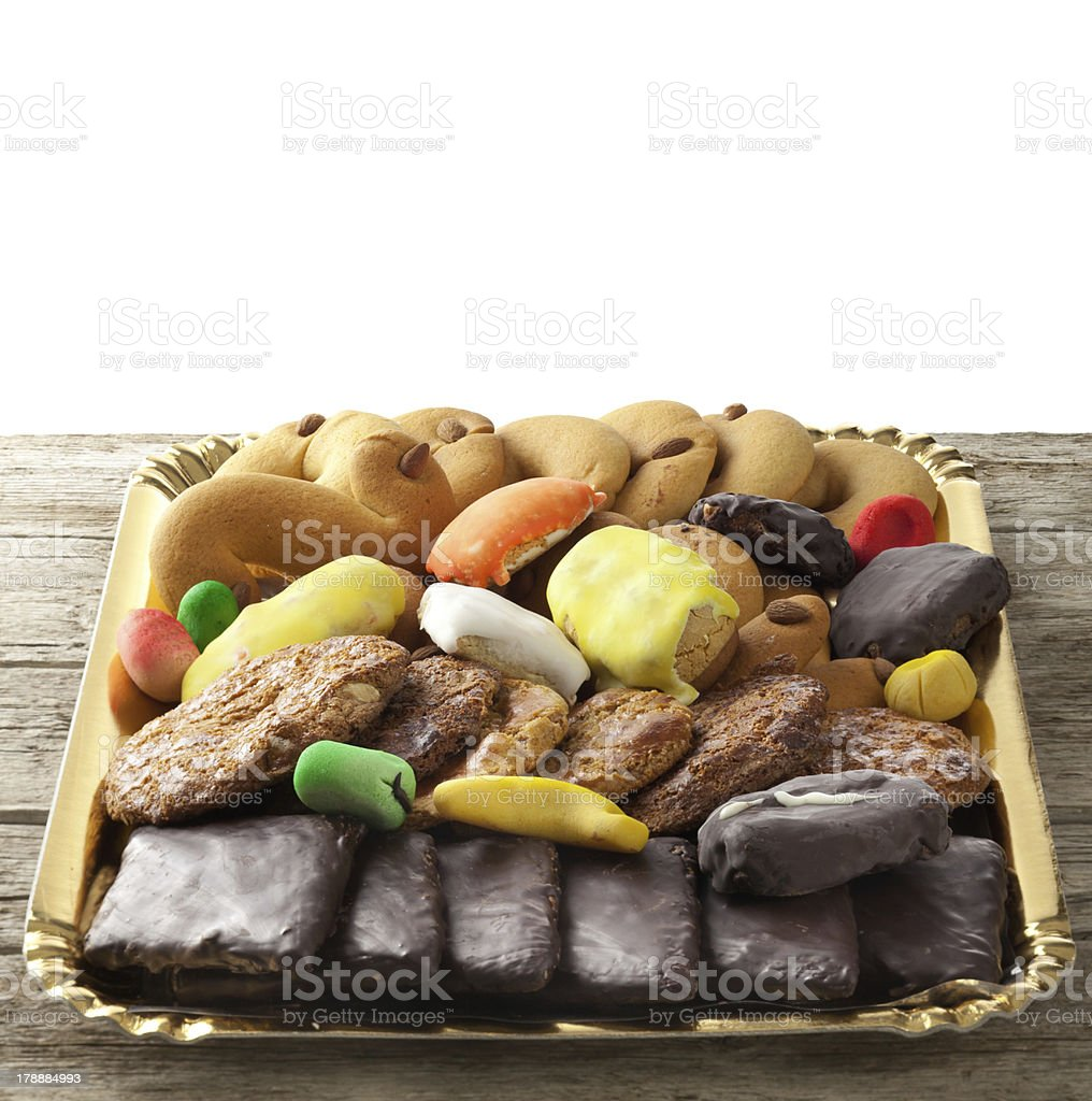 Mix of pastries and cookies stock photo