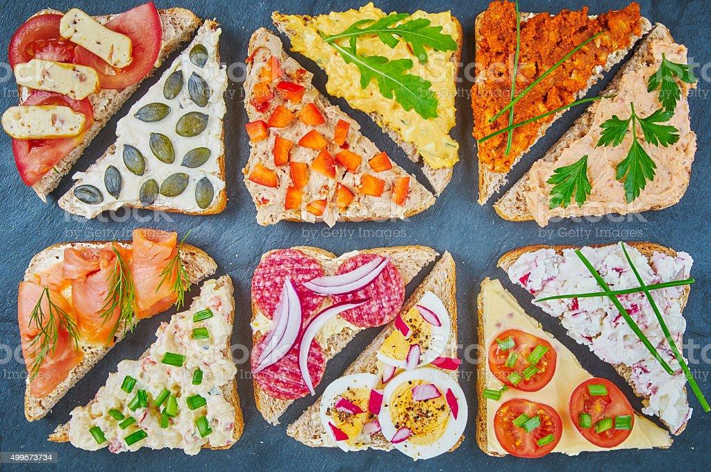 Auswahl an sandwiches – Foto
