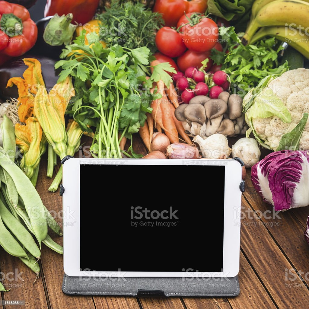 mix of vegetables food at the market royalty-free stock photo