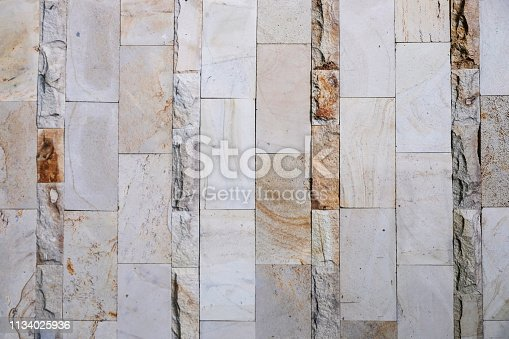 Close up shot natural stone tile textured