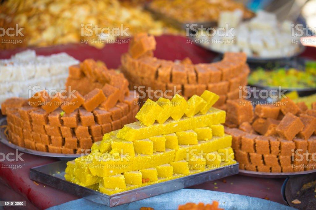 mix sweet food stock photo
