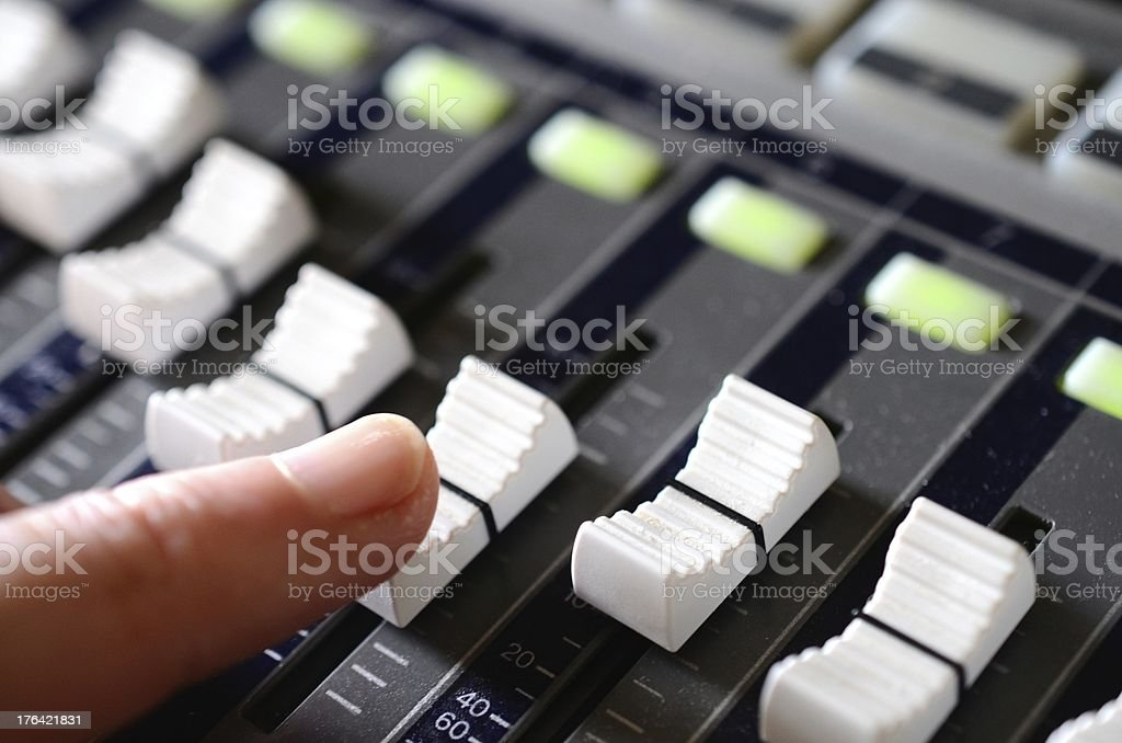 Mix the track royalty-free stock photo