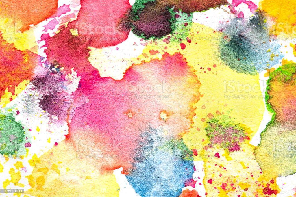 Mix watercolor painted background royalty-free stock photo