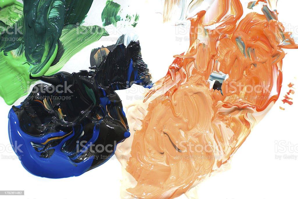 mixed acryl colors - Akrylfarben stock photo