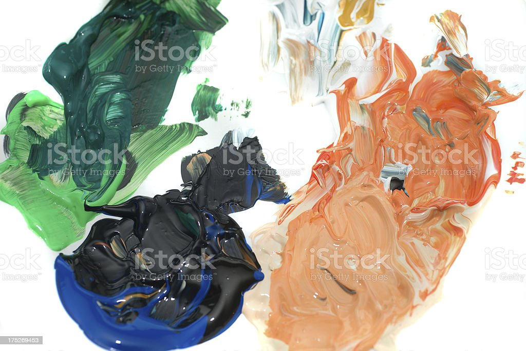 mixed acryl colors - Akrylfarben royalty-free stock photo