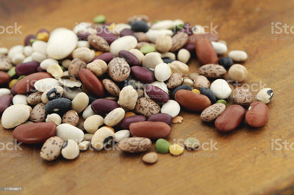 mixed beans royalty-free stock photo
