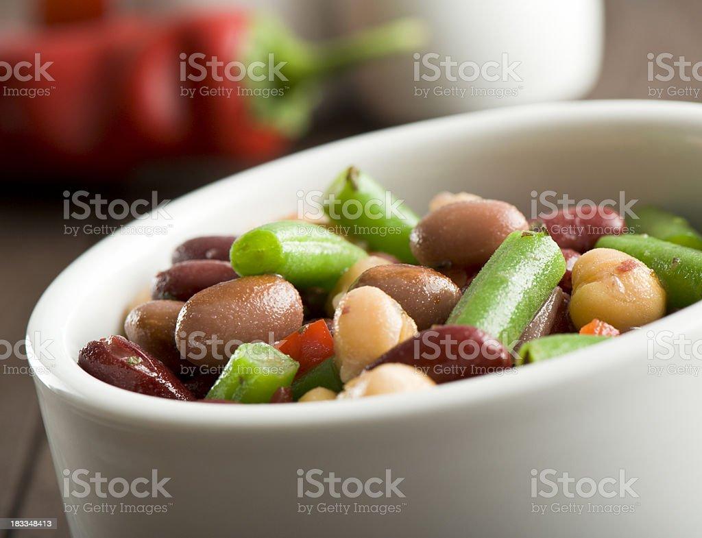 Mixed beans salad royalty-free stock photo