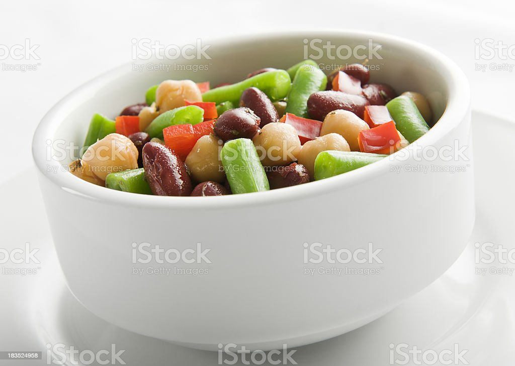Mixed beans salad stock photo