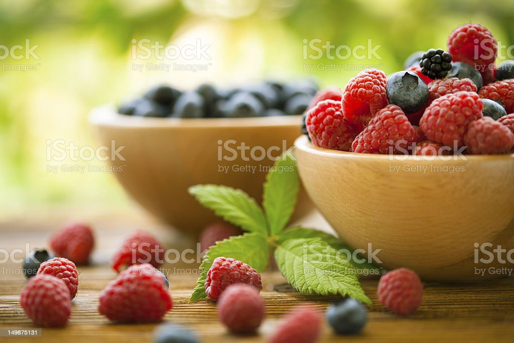 Mixed berries stock photo